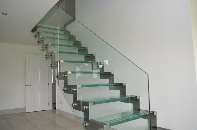 Floating Glass Stairs in Hazel Grove