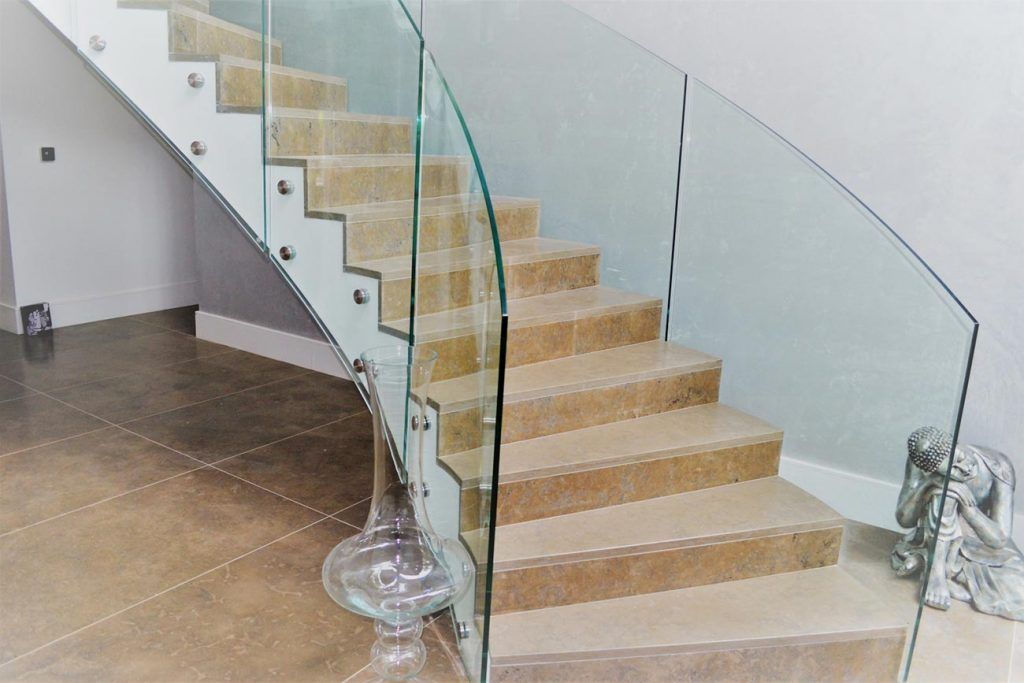 Curved Glass Spiral Stairs in Stockport